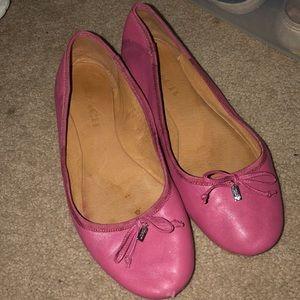 Pink Coach Flats